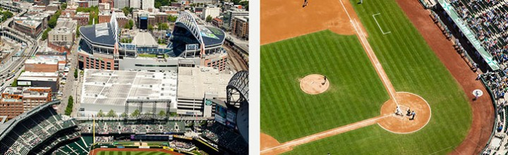 Aerial photos of Seattle's Safeco Field