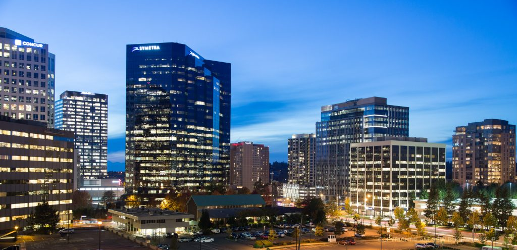 commercial real estate, CRE, dusk photographer in Seattle, WA