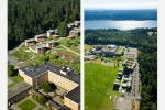 Seattle - Aerial photos of Bastyr Univ. student housing, Bothell, WA for Site Workshop Landscape Architecture