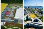 Seattle - Aerials of Nintendo America campus for Mark Brumbaugh & Assoc. Landscape Arch. and Gates Foundation Campus, Seattle