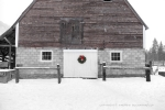 Seattle - Winter barn, colorized black and white photo, Mazama, WA