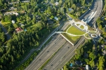 Seattle - Aerial photography of highway 520 eastside lidded interchange for HBB Landscape Architecture, Bellevue, WA
