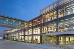 Seattle - Corporate exteriors photography of HNI Headquarters Building in Muscatine, Iowa for IA: Interior Architects, Neumann Monson Architects, and HNI