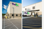 Seattle - Corporate exteriors photography of FedEx distribution center in Portland, Oregon for Brett Construction