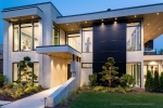 Seattle - Dusk exterior architectural photography, Clyde Hill, WA for McCullough Architects